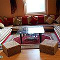 <b>Salon</b> <b>marocain</b> traditionnel confortable