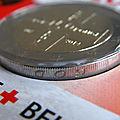 2€ belgique 2014 croix rouge fautée tranche néerlandaise