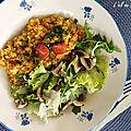 Risotto de quinoa aux lentilles corail & curry