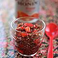Coupe de fraises au quinoa rouge et mix-fruit fraise de monin {ronde interblogs}