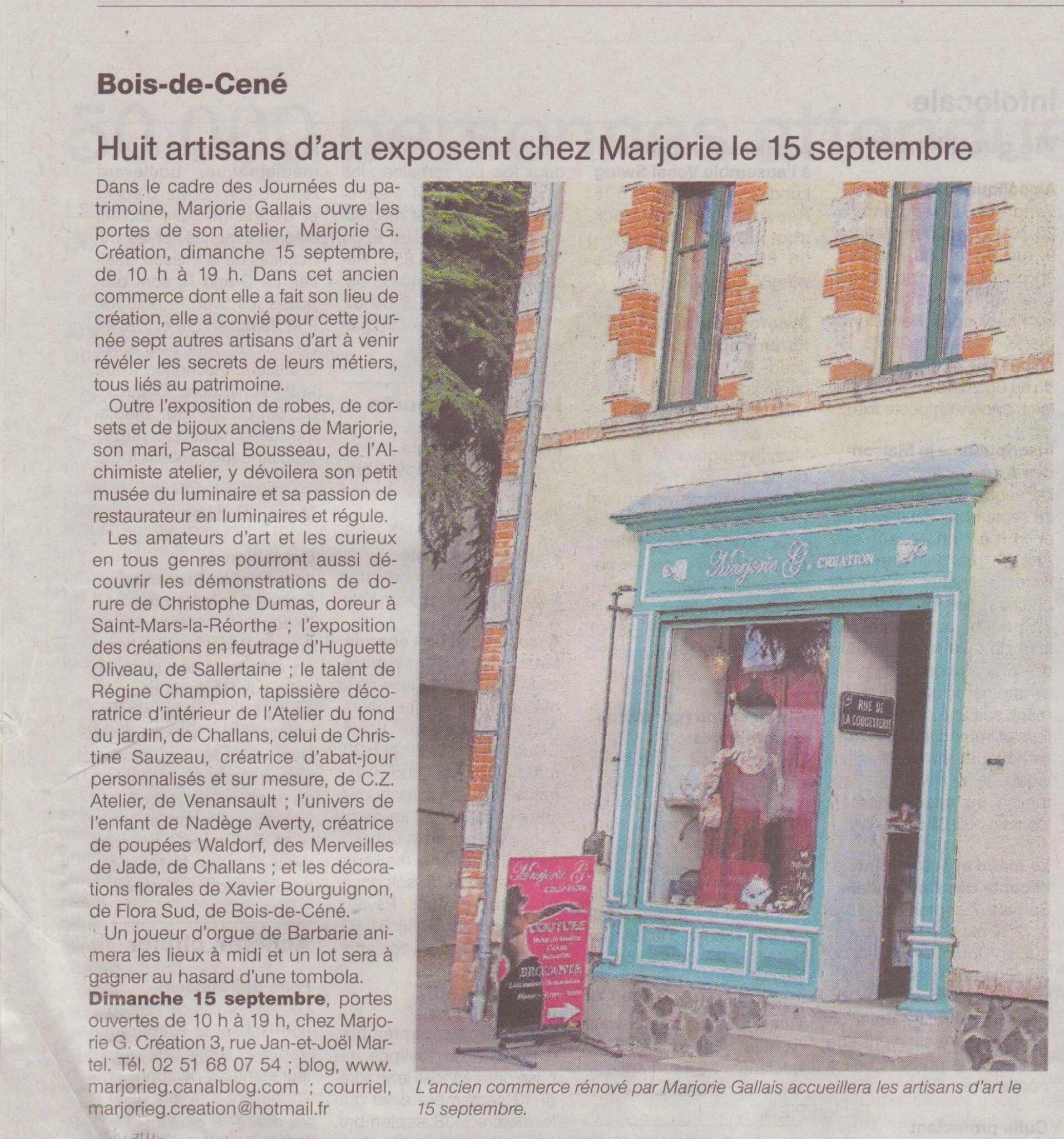 article de journal ouest france 6 septembre 2013
