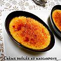 Crème brûlée au mascarpone à la vanille