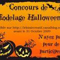 Concours modelage d'halloween (toutes techniques : pâte polymère : fimo, kato, sculpey…, porcelaine froide, wepam,…)