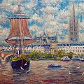 Bordeaux départ du grand voilier