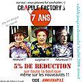 Crapule Factory fête ses 7 ans !! pour l'occasion OFFRE 5% de RÉDUCTION SUR TOUTE LA BOUTIQUE même les nouveautés !!