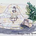 Puisserguier: Fontaine sur route nationale vers Béziers
