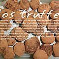 Les truffes en chocolat
