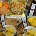 Muffins banane, orange aux schoko-bons