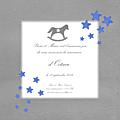 FP cheval à bascule gris nuée étoiles bleues modèle Octave