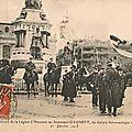 Remise de la Légion d'Honneur au lieutenant aviateur Edmond Gaubert, le 21 janvier 1913 à Belfort