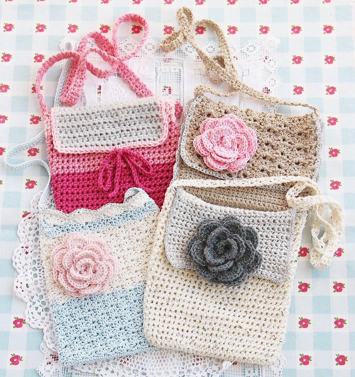 vanillejolie sac crochet decoration