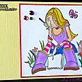 carte d'anniversaire ado colorisée