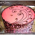 Bavarois framboise-chocolat