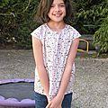 Petites blouses d'été pour grande fille