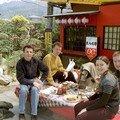 Michel, Eric, Aude et Christophe en Avril 2001