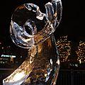 Sculpture sur glace à epinal