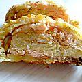 Roulé saumon pomme de terre courgette carré frais (pour une fois j'ai pas voulu copier héhé)