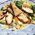 Salade de poulet grillé, sauce césar light
