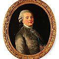 Ecole française du xviiie siècle. portrait du prince louis de france (1755-1824), comte de provence en 1773