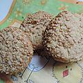 Biscuits aux graines de <b>sésame</b>
