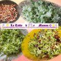 Beignets de courgette et lardons à la farine de sarrasin