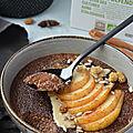 Porridge d'<b>amarante</b> au chocolat façon poire belle-Hélène aux épices chaï #vegan #glutenfree
