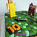 Gâteau minecraft - Minecraft cake