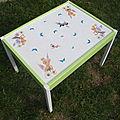 table Ikea relookée