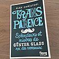 J'ai lu Transparence de Alex Christofi