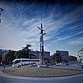 Rond-point à Pula (Croatie)