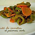 Sauté de carottes et poivrons verts, au tandoori
