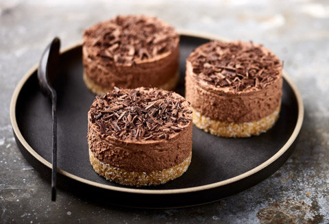 Cheesecake au chocolat sans cuisson, biscuit coco