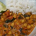 <b>Curry</b> de Pois Chiches aux Épinards
