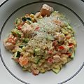 One pot pasta saumon courgettes