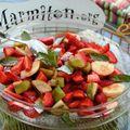 salade de fraises bananes kiwis