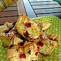 Gâteau super leger aux framboises et zestes de citron vert