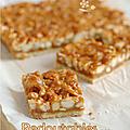 Carres noix de cajou, noix de macadamia & caramel