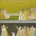 Ladies on a Terrace Kite-Fighting by a Farrukhabad artist, c. <b>1775</b>,