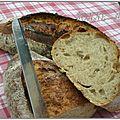 Pain tradition à la pâte fermentée