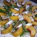 Salade de mozzarella aux pêches et au fenouil
