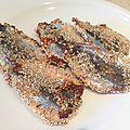 Sardines aux graines de sésame