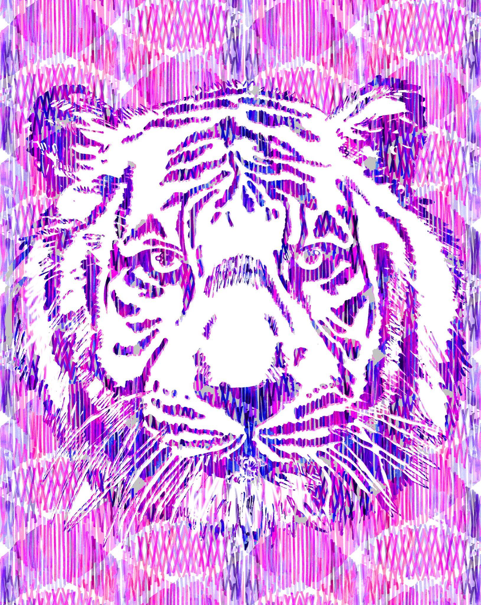 tigre rose