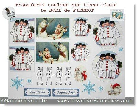 transferts le Noël de pierrot couleur ©marimerveille