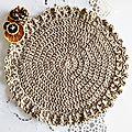 One-hour <b>crochet</b> project : Set de table chic & facile au <b>Crochet</b> (débutant)