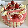Layer cake fraise-chocolat blanc