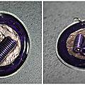 Pendentif ressort violet 2