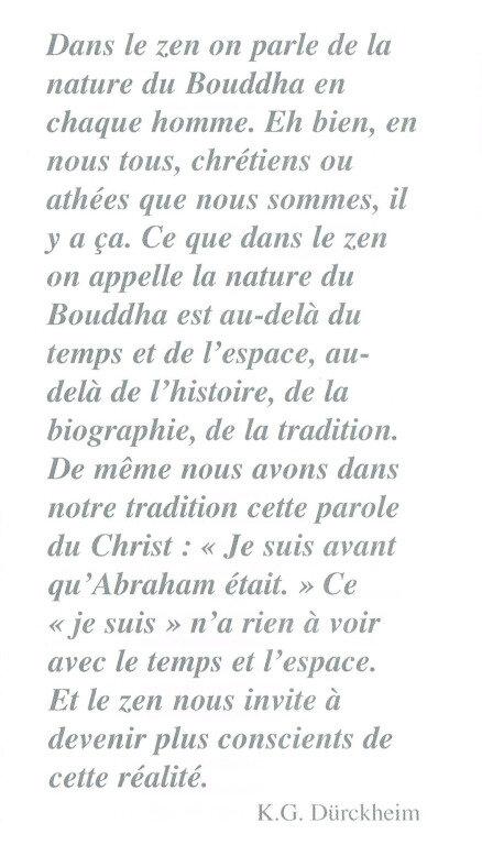 Citation de K G Durckheim
