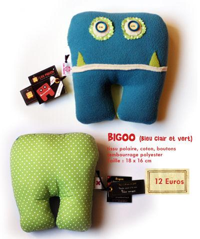 Bigoo ( Bleu clair et vert)