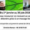 Offre découverte - un soin reiki et un modelage bien-être (non thérapeutique)- 1er janvier au 30 juin 2018