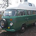 <b>VOLKSWAGEN</b> Combi type 2 vitré surélevé aménagé camping car